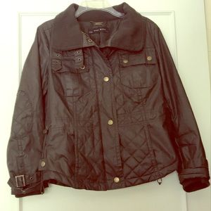 ZARA Quilted Utility Jacket